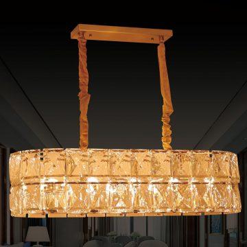 Đèn thả trần hình trụ pha lê cao cấp cho phòng khách Venus VR9038