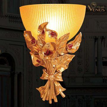 Đèn tường hoa lan ý chao thủy tinh Venus HD5136