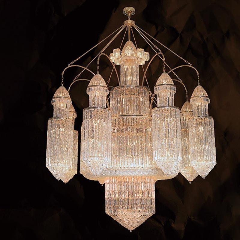 Bộ đèn chùm pha lê Tiệp Khắc – Liễu rũ lâu đài