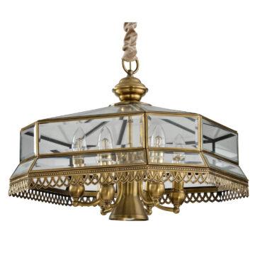 Đèn Chùm Đồng Kiểu Pháp Cổ Điển Venus 100018-07 7 tay bóng nến