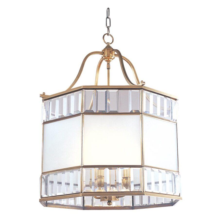 Đèn thả trần phòng khách bằng đồng khối hình vuông Venus 100025-04 4 Bóng