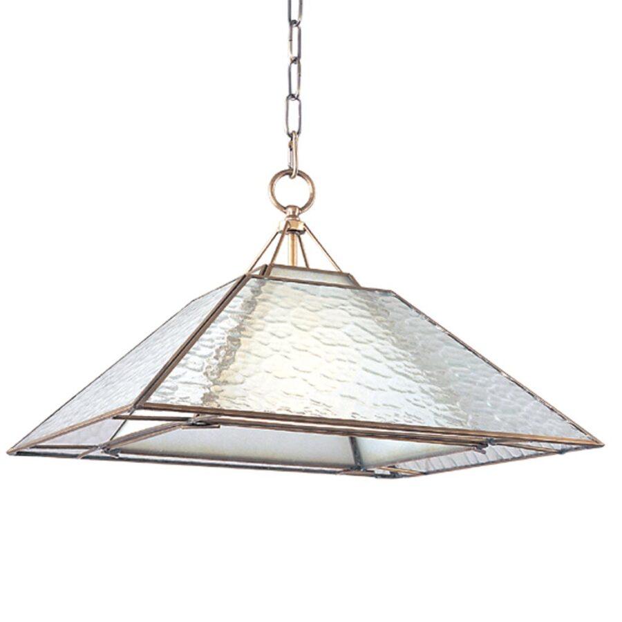 Đèn thả trần phòng khách bằng đồng khối hình tam giác Venus 100026-01 1 Bóng