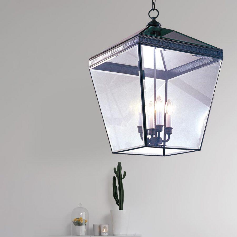 Đèn thả trần phòng khách bằng đồng kiểu lồng lớn phòng khách Venus 100031-04 4 Bóng