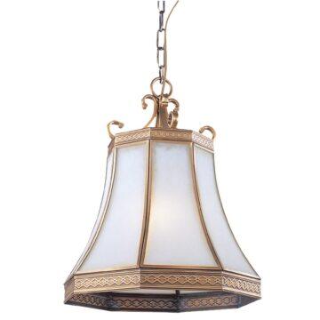 Đèn thả trần phòng khách bằng đồng kiểu châu Âu Venus 100032-01 1 Bóng