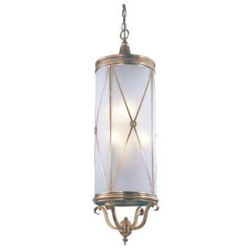Đèn thả trần phòng khách bằng đồng khối trụ dài Venus 100035-06 6 Bóng