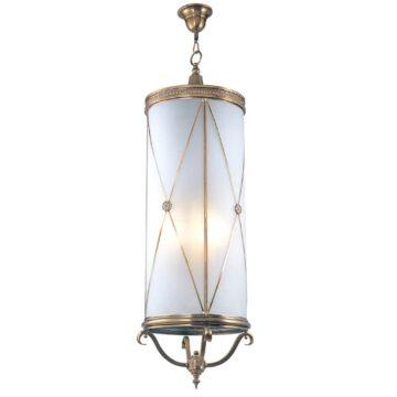 Đèn thả trần phòng khách bằng đồng khối ống dài Venus 100035-06A 6 Bóng