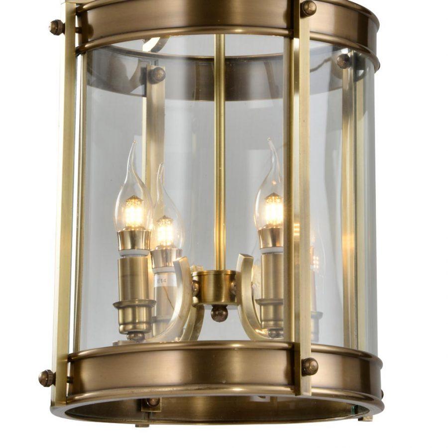 Đèn thả trần phòng khách bằng đồng sang trọng Venus 100036-04B 4 Bóng