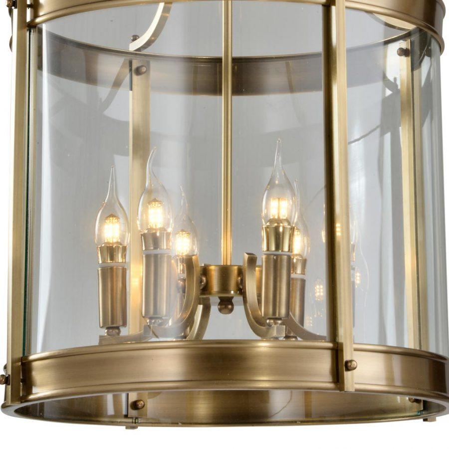Đèn thả trần phòng khách bằng đồng cổ điển Venus 100036-06B 6 Bóng