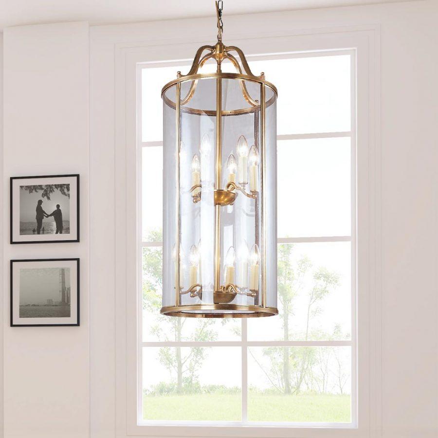 Đèn thả trần phòng khách bằng đồng nhỏ gọn Venus 100036-12A 12 Bóng