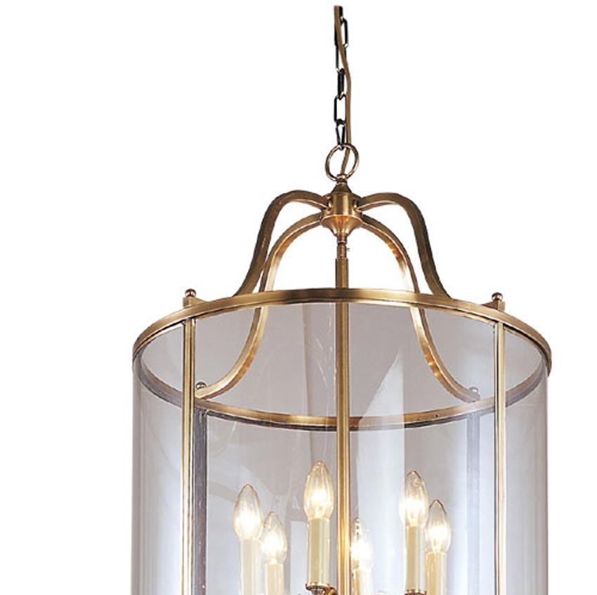Đèn thả trần phòng khách bằng đồng đơn giản Venus 100036-12B 12 Bóng