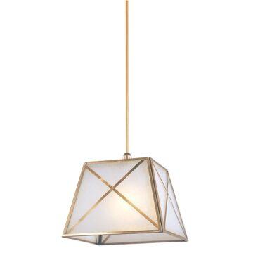 Đèn thả trần phòng khách nhỏ bằng đồng khối hình vuông Venus 100047-01 1 Bóng