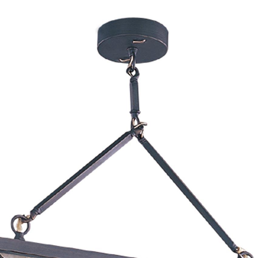 Đèn thả trần phòng khách bằng đồng hình vuông cân bằng Venus 100047-02 2 Bóng