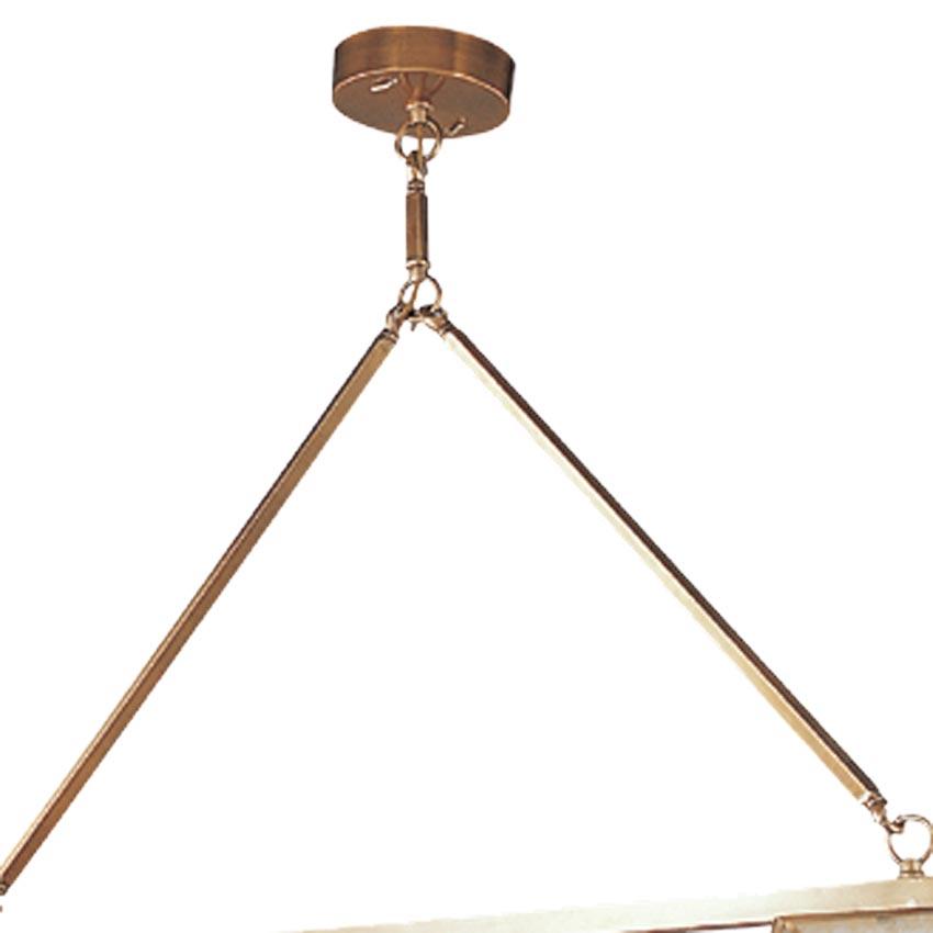 Đèn thả trần phòng khách bằng đồng thanh ngang thẳng Venus 100047-03 3 Bóng