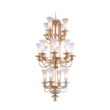 Đèn Chùm Đồng Kiểu Pháp Cổ Điển Venus 100088-16 16 tay bóng nến