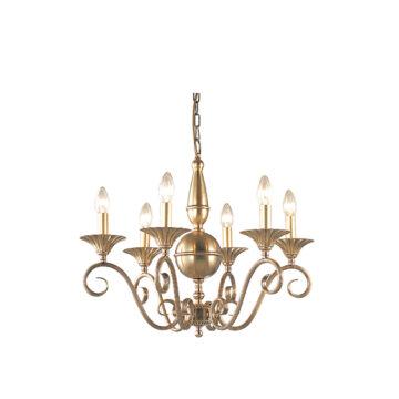 Đèn Chùm Đồng Kiểu Pháp Cổ Điển Venus 100148-06 6 tay bóng nến