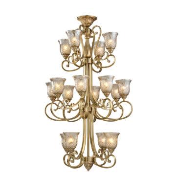 Đèn Chùm Đồng Kiểu Italia Cổ điển Venus 100239-16 16 tay bóng nến