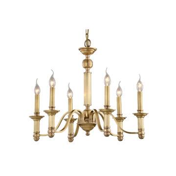 Đèn Chùm Đồng Kiểu Italia Cổ điển Venus 100242-06 6 tay bóng nến