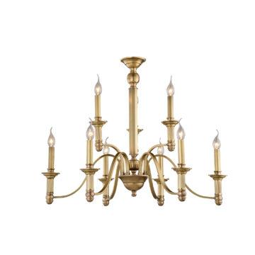Đèn Chùm Đồng Kiểu Italia Cổ điển Venus 100242-09 9 tay bóng nến