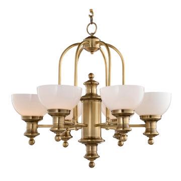 Đèn Chùm Đồng Kiểu Italia Cổ điển Venus 100260-06 6 tay bóng nến