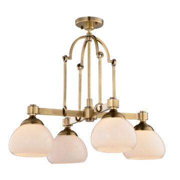 Đèn Chùm Đồng Kiểu Italia Cổ điển Venus 100261-04 4 tay bóng nến