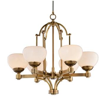 Đèn Chùm Đồng Kiểu Italia Cổ điển Venus 100261-06 6 tay bóng nến