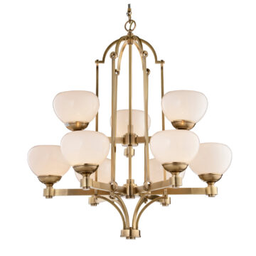 Đèn Chùm Đồng Kiểu Italia Cổ điển Venus 100261-09 9 tay bóng nến