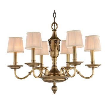 Đèn Chùm Đồng Kiểu Italia Cổ điển Venus 100263-06 6 tay bóng nến