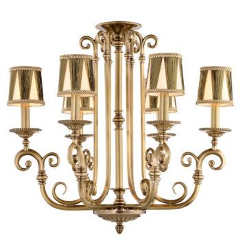 Đèn Chùm Đồng Kiểu Italia Cổ điển Venus 100264-06 6 tay bóng nến