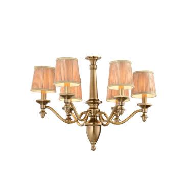 Đèn Chùm Đồng Kiểu Italia Cổ điển Venus 100266-06 6 tay bóng nến
