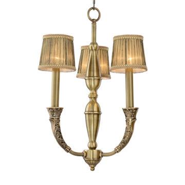 Đèn Chùm Đồng Kiểu Italia Cổ điển Venus 100268-03 3 tay bóng nến