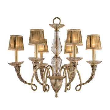 Đèn Chùm Đồng Kiểu Italia Cổ điển Venus 100268-06 6 tay bóng nến