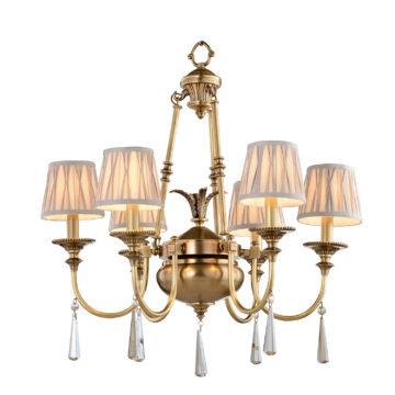 Đèn Chùm Đồng Kiểu Italia Cổ điển Venus 100269-06 6 tay bóng nến