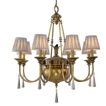 Đèn Chùm Đồng Kiểu Italia Cổ điển Venus 100269-08 8 tay bóng nến