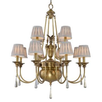 Đèn Chùm Đồng Kiểu Italia Cổ điển Venus 100269-12 12 tay bóng nến