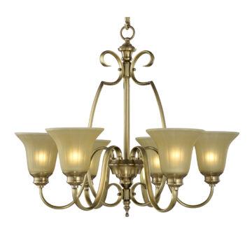 Đèn Chùm Đồng Kiểu Italia Cổ điển Venus 100275-06 6 tay bóng nến