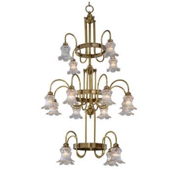 Đèn Chùm Đồng Kiểu Italia Cổ điển Venus 100279-16 16 tay bóng nến