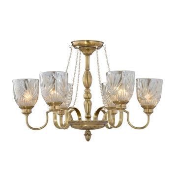 Đèn Chùm Đồng Kiểu Italia Cổ điển Venus 100280-06 6 tay bóng nến