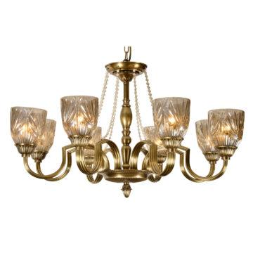 Đèn Chùm Đồng Kiểu Italia Cổ điển Venus 100280-08 8 tay bóng nến