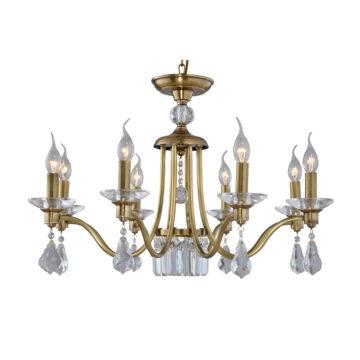 Đèn Chùm Đồng Kiểu Italia Cổ điển Venus 100297-08 8 tay bóng nến