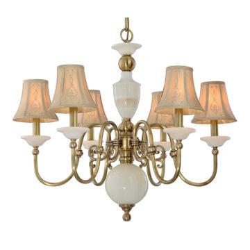 Đèn Chùm Đồng Kiểu Italia Cổ điển Venus 100299-06 6 tay bóng nến