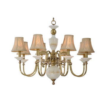 Đèn Chùm Đồng Kiểu Italia Cổ điển Venus 100299-08 8 tay bóng nến