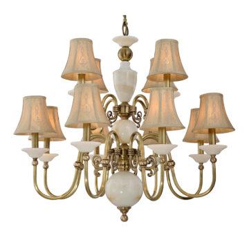 Đèn Chùm Đồng Kiểu Italia Cổ điển Venus 100299-12 12 tay bóng nến