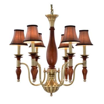 Đèn Chùm Đồng Kiểu Italia Cổ điển Venus 100301-06 6 tay bóng nến