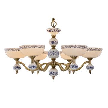 Đèn Chùm Đồng Kiểu Tân Cổ Điển Venus 100305-06 6 tay bóng nến