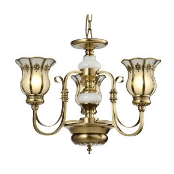 Đèn Chùm Đồng Kiểu Tân Cổ Điển Venus 100363-03 3 tay bóng nến