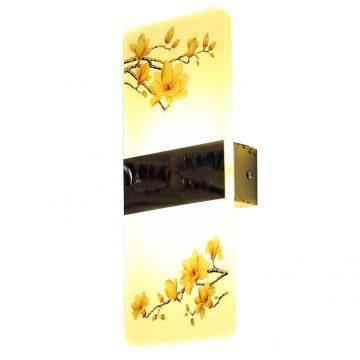 Đèn gắn tường LED trang trí thủy tinh chữ nhật hình Hoa mai Venus
