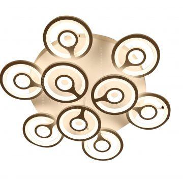 Đèn ốp trần mâm LED tròn 9 tay đồng tiền Venus 9560/6+3 (90W)