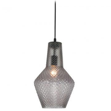 Đèn thả trần thủy tinh khắc nổi màu khói hiện đại Venus 8018D-B