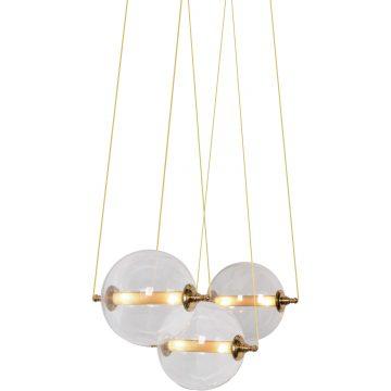 Đèn thả trần thủy tinh 3 quả cầu trong suốt hiện đại Venus MD0085-3
