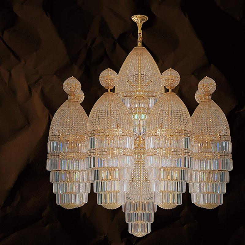 Bộ đèn chùm pha lê Tiệp Khắc – Sáu lâu đài